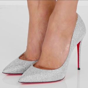 NWB LOUBOUTIN Glitter Stilletto Pumps!